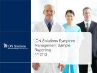 Sample Benchmark Reporting - ION Solutions