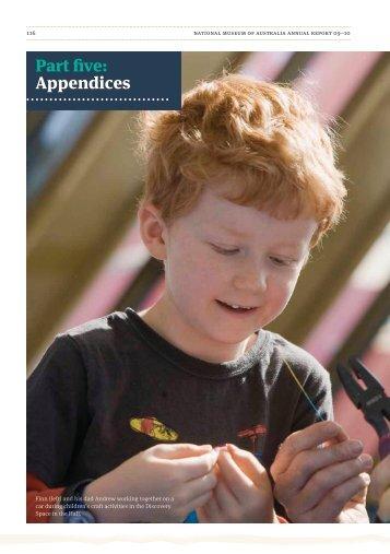 Part five: Appendices - National Museum of Australia