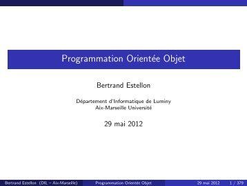 Programmation Orientée Objet