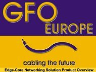 Edge-Core Networking Solution Product Overview - Gfo Europe S.p.A.
