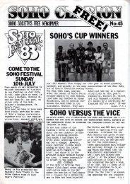 COME TOTHE SOHO FESTIVAL SUNDAY 10th ... - The Soho Society