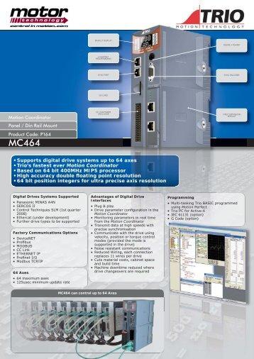 MC464 data sheet1.indd - Motor Technology Ltd
