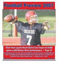 Dixie State quarterback Skyler Ence hopes to build ... - The Spectrum