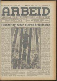 Arbeid (1942) nr. 39 - Vakbeweging in de oorlog