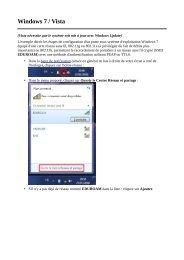 Windows 7 / Vista - Université Rennes 2