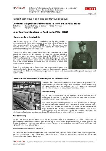 version complète imprimable PDF - Techni.ch