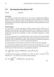 Bias Dependent Noise Model for HBT - Universität Duisburg-Essen