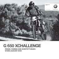 G 650 XCHALLENGE - BMW Motorrad International