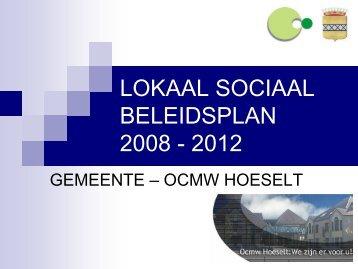 Hoeselt - lokaal sociaal beleidsplan 2008-2014 (PDF, 180 KB)
