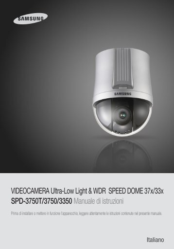 VIDEOCAMERA Ultra-Low Light & WDR SPEED ... - DOMUSWIRE