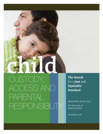 Child Custody, Access and Parental Responsibility (The Search - FIRA
