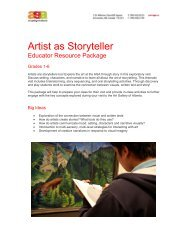 Artist as Storyteller - Art Gallery of Alberta