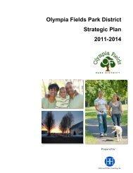 Olympia Fields Park District Strategic Plan 2011-2014