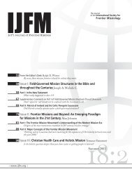 Volume 18:2 - International Journal of Frontier Missions