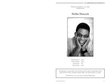 Herbie Hancock - Cal Performances