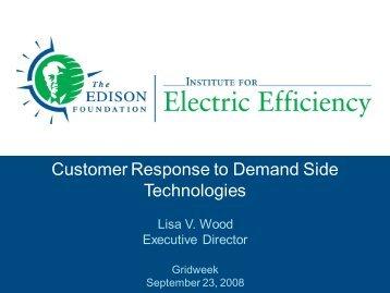 Customer Response to Demand Side Technologies - Edison ...