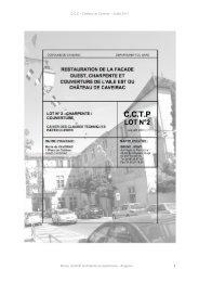 CCTP LOT 2 - Mairie de Caveirac