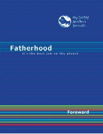 Father Toolkit - My Daddy Matters Because...