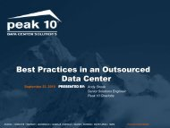 Best Practices In An Outsourced Data Center