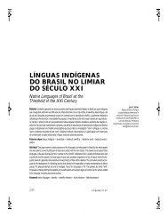 línguas indígenas do brasil no limiar do século xxi - Unimep
