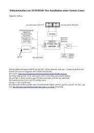 Dokumentation zur ASTERISK Test Installation unter ... - T-Online