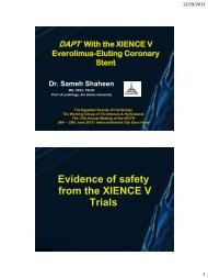 Evidence of safety from the XIENCE V Trials - RM Solutions