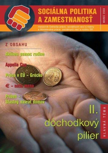 Marec 2008 - Ústredie práce, sociálnych vecí a rodiny