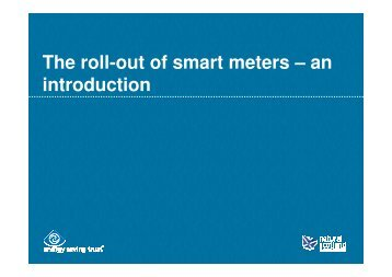 The roll-out of smart meters – an introduction - Octes