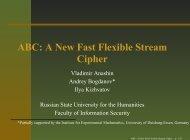 ABC: A New Fast Flexible Stream Cipher - ABC stream cipher