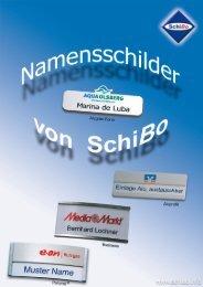 Katalog Namensschilder (PDF) - SchiBo GmbH