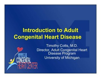 Introduction to Adult Congenital Heart Disease
