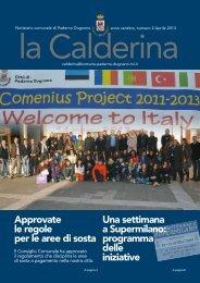 Aprile 2013 - Sito Istituzionale del Comune di Paderno Dugnano