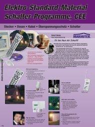 Elektro-Standard-Material Schalter-Programme, CEE Stecker ...