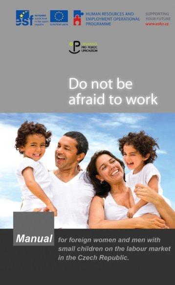 Do not be afraid to work - Organizace pro pomoc uprchlíkům