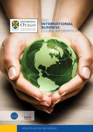 international business - Otago Business School - University of Otago
