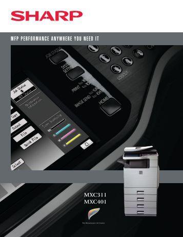 MXC311 MXC401 - Sharp.