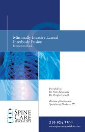 Minimally Invasive Lateral Interbody Fusion - Spine Care Specialists