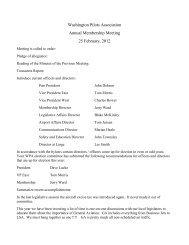 Washington Pilots Association Annual Membership Meeting 25 ...