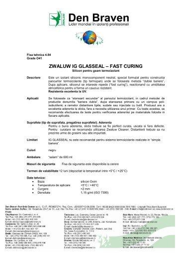 ZWALUW IG GLASSEAL – FAST CURING - Dedeman
