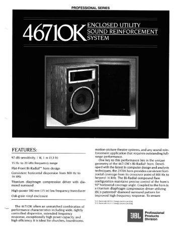 4671OK - JBL Professional