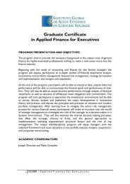 Graduate Certificate in Applied Finance for Executives