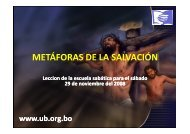 METÁFORAS DE LA SALVACIÓN - Ministerios PM