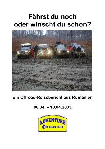 Rumänien-Tour 2005 - Schlammreporter
