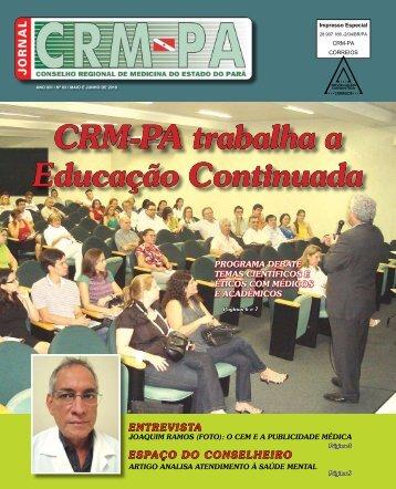 CRM-PA trabalha a Educação Continuada - Conselho Regional de ...