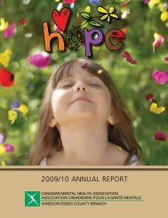 2009/10 ANNUAL REPORT - Canadian Mental Health Association