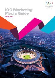 IOC Marketing: Media Guide - International Olympic Committee