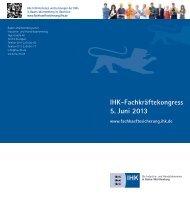 IHK-Fachkräftekongress 5. Juni 2013 - Deutscher Industrie- und ...