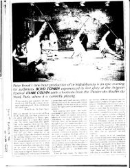 peter Brook,s nine hour production of Le Mahabharata ... - Yavanika