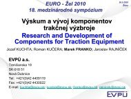 Research and Development Components of Traction ... - EURO - Žel