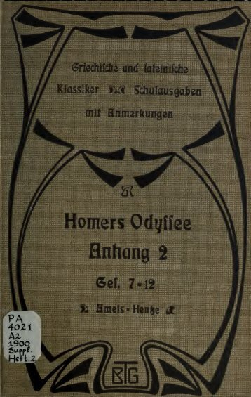 Anhang zu Homers Odyssee, Schulausgabe